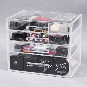 Clear Acrylic 4 Drawers Beauty Organizer
