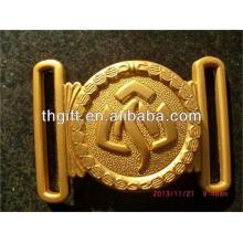 Hebilla de cinturón de metal personalizada con chapado en oro