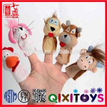 Fantoche de dedo do bebê bonito brinquedo moda personalizado conjunto fantoche de dedo de pelúcia de pelúcia barato
