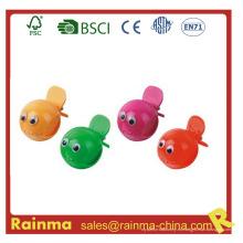 Peces coloridos divertidos mini lápiz sacapuntas