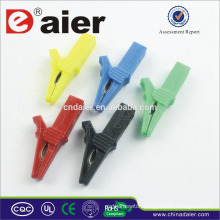 Daier colors insulated alligator clips with wire crocodile clamps