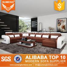 Новые конструкции 2013 роскошный гостиной диван устанавливает Дубай кожаный диван мебель