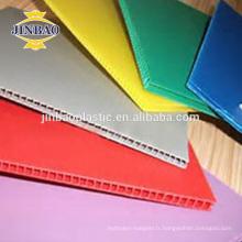 JINBAO 4x8 48 * 96 blanc bleu pp en plastique feuille de couverture de l'ordinateur portable prix