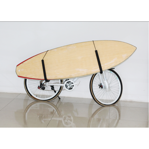 Sturdy steel surfboard bike rack