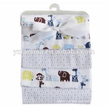 Hermoso estampado de algodón franela infantil Baby mantas de bebés
