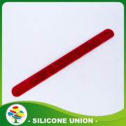 Promotional Cheap 3D Logo Silicone Slap Bracelets