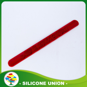 Promotional Cheap 3D Logo Silicone Slap Bracelets