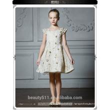 Latest Children Puffy Ball Gown Wedding bridesmide dresses Frocks Birthday Lace Long Flower Girl ED664