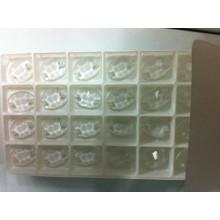 Transparente ovale flache Rückenperlensteine