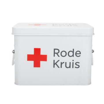Enamel Metal First Aid Box Empty