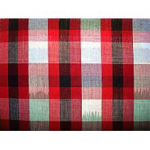 Tissu en jersey de coton teinté en fil de section