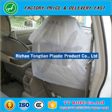 HDPE / LDPE clear plastic seat covers for car