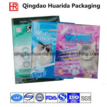 Gravure Printing Side Gusset Plastic Packaging Cat Litter Bag