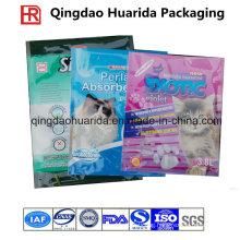 Gravure Printing Side Gusset Plastic Packaging Cat Litter Bag