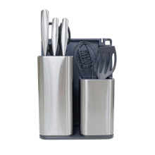 Utensil Halter mit Kochgeschirr Set Messer Block