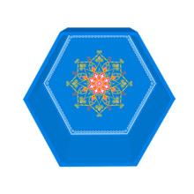 Blue gem hexagon display