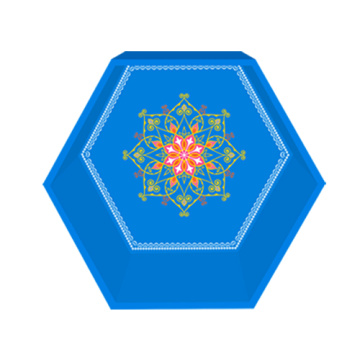 Blue gem hexagon display