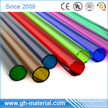 Transparent Thin Wall Plastic PVC Round Pipe Poly Rigid Tubing