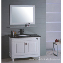 White Wooden Bathroom Vanity (B-315)