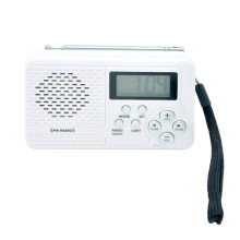 digital FM/AM/ radio clock with telescopic antenna