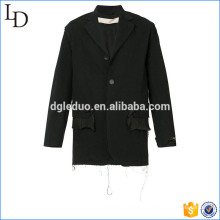 Frayed detallando chaqueta chaqueta chaqueta clásico traje chaqueta de fitness para hombre