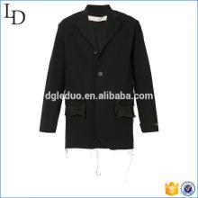Frayed détaillant veste manteau veste blazer costume classique hommes fitness veste