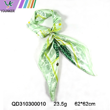 GREEN COLOR PRINTED SCARF