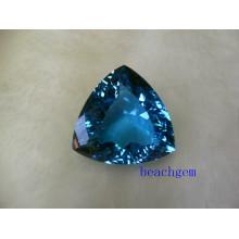 Швейцарский Голубой топаз большой размер драгоценных камней 20CT вверх кусок