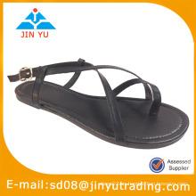 Zapatos negros planos al por mayor planos