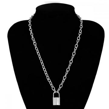 Y Necklace Lock Pendant Simple Cute Necklaces Long Multilayer Chain Fashion Jewelry Women Girls Gift for Her