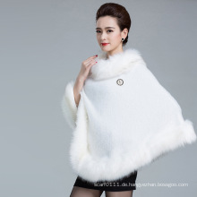 Lady Fashion Faux Fur gestrickte Winter Schal Poncho (YKY4456)
