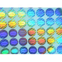Holograma personalizado original 15mm rodada adesivos anti-falsificados laser uma vez uso