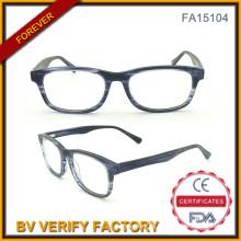 Neue Entwicklung Acetat optische Gläser mit Metall-Feder (FA15104)