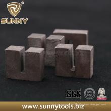 Diseño único en forma de diamante U forma segmento para cortar piedra
