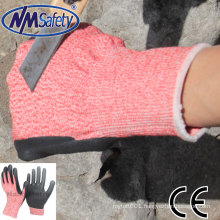 NMSAFETY anti cut industrial factory use high level 5 safety gloves steel working gloves