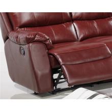 Sofá de salón con sofá moderno de cuero genuino (455)