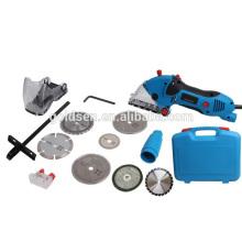 85mm 600W multifunções Power Mini Circular Saw Kit elétrica oscilante Multi Ferramenta