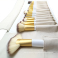 Cepillo esencial profesional de 18 piezas con bolsa de PU blanca