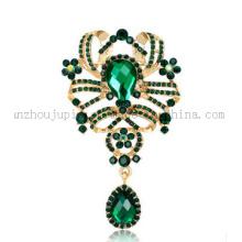 Broche en cristal de cristal de strass de bijoux faits sur commande de costume de mode