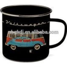 Beetle Enamel Tin Mug - Black Beetle Enamel Tin Mug - Black