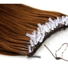 New Arrival Best Brazilian Straight/Curly Human Hair Remy Hair Virgin Hair Transparent Fish Silk Thread Easy Pull Thread Knot Hair Extension Wig Hair