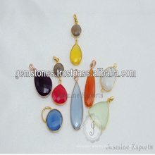 Rose Gold Handmade Jewelry Gold Plated Gemstone Pendants