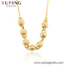 44493 xuping bijoux collier avec pendentif perles en argent plaqué or 24k