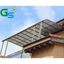 Sunshade Outdoor Window  Polycarbonate Sheet Patio Aluminium Alloy Canopies Plastic Awning