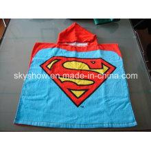 Crianças customed algodão toalha com capuz (SS0355)