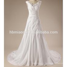 Роскошные бретельках кружева сексуальный свадебное платье для зрелой невесты с небольшим хвостиком