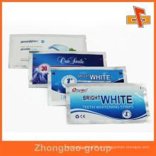 Kundenspezifische Pringing Aluminiumfolie Seitentasche für weiße Streifen mit Risskerbe