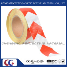 PVC High Quality White & Red Warning Arrow Reflective Tape (C3500-AW)