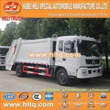DONGFENG 4x2 12 M3 trash compactor with pressing mechanism diesel engine 190 hp