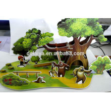 DIY educational toy 3D puzzle model for kids